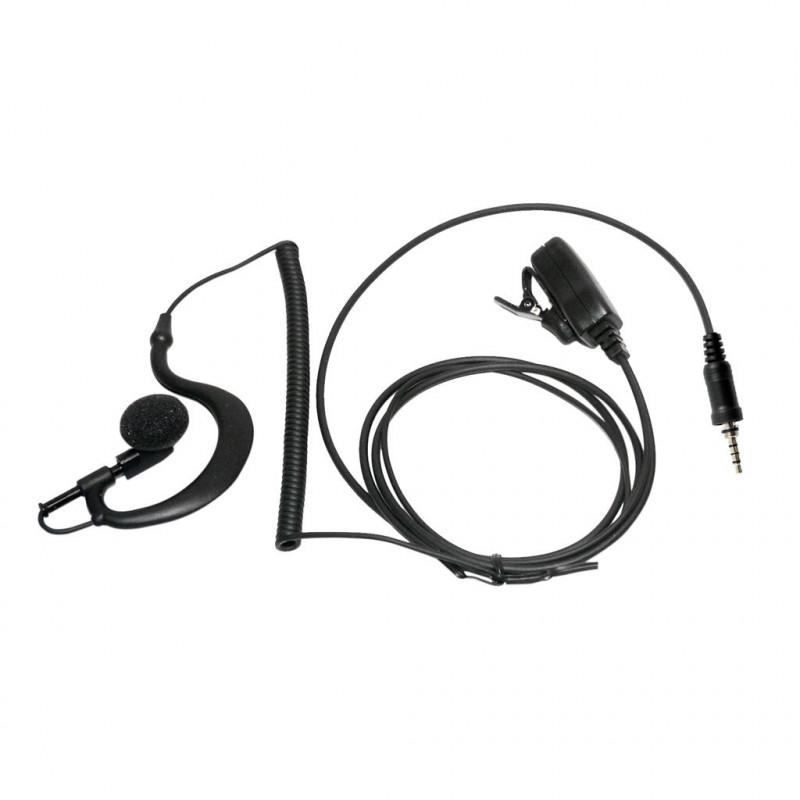 SARI-1304VX7 - Micro-auricular con PTT de solapa para YAESU / ALINCO / STANDARD HORIZON