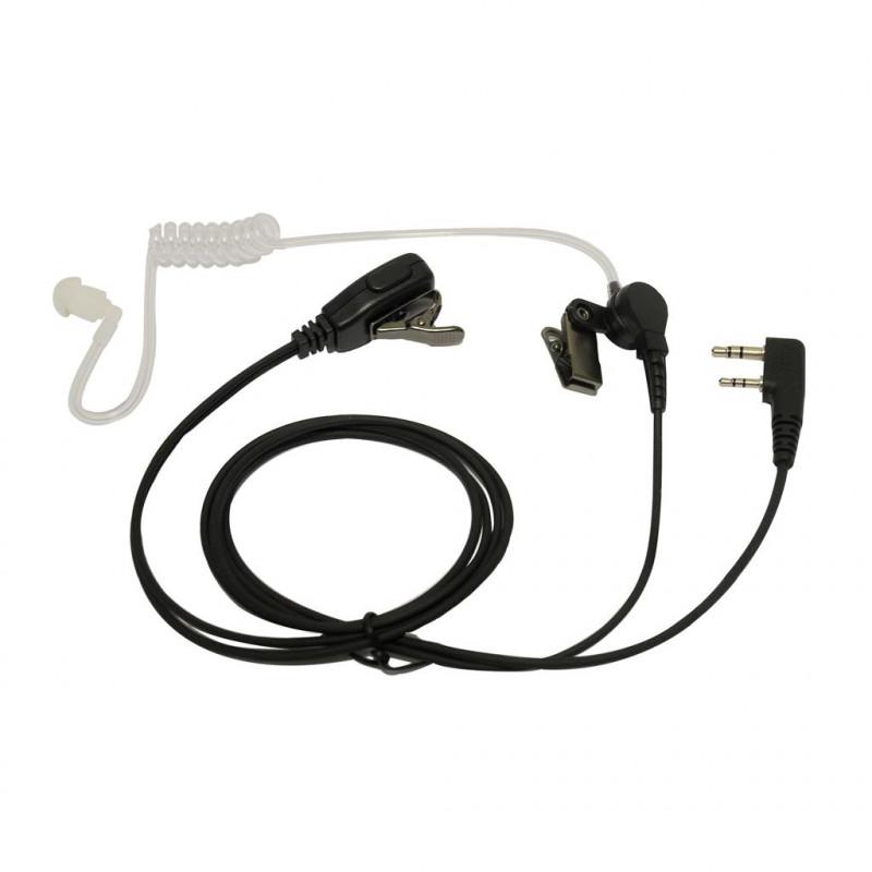 SARI-MAT-K - Micro-auricular tubular para KENWOOD, TEAM y HYT.