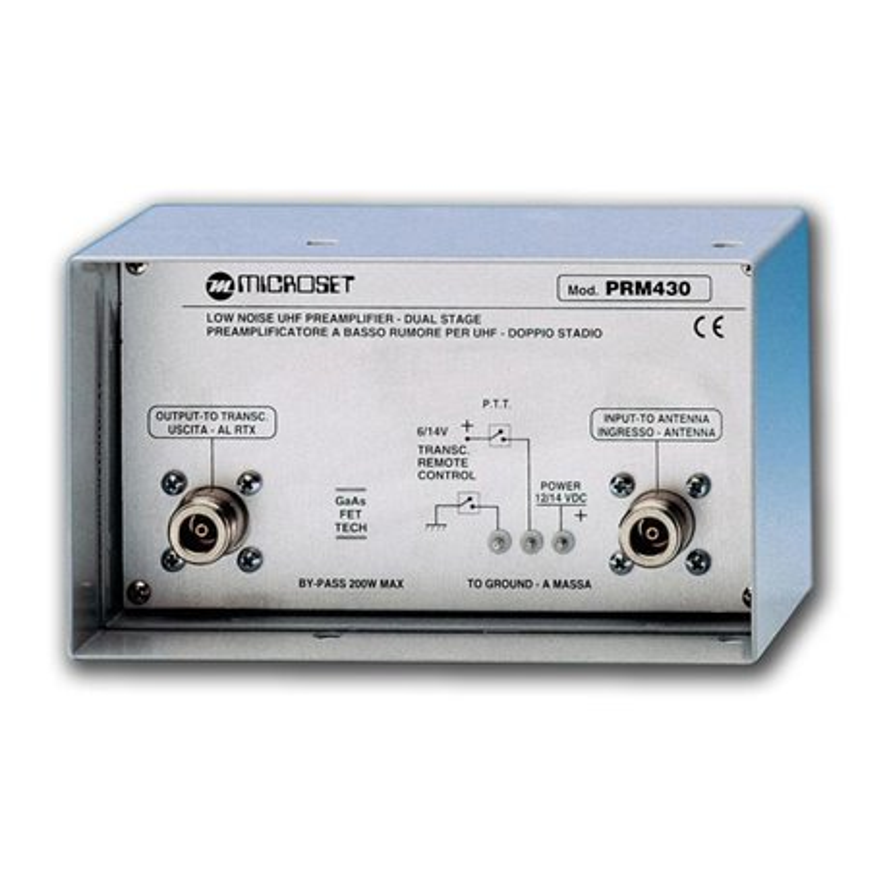 PRM-430 - Preamplificador de antena para 430-440 MHZ