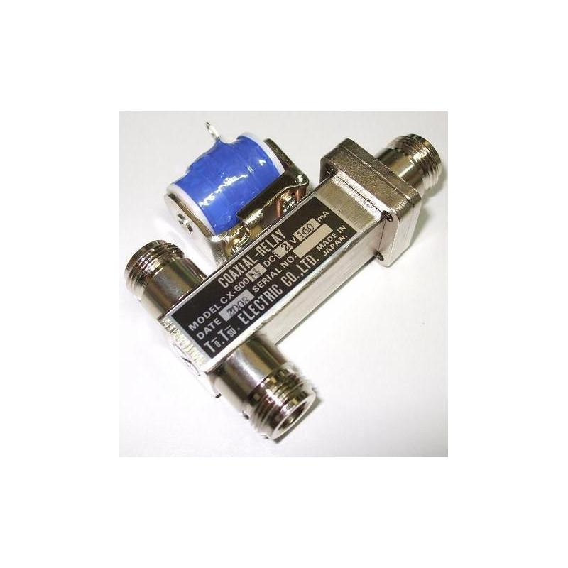 CX-600-NC - Relé coaxial conector N hasta 2500 MHz.