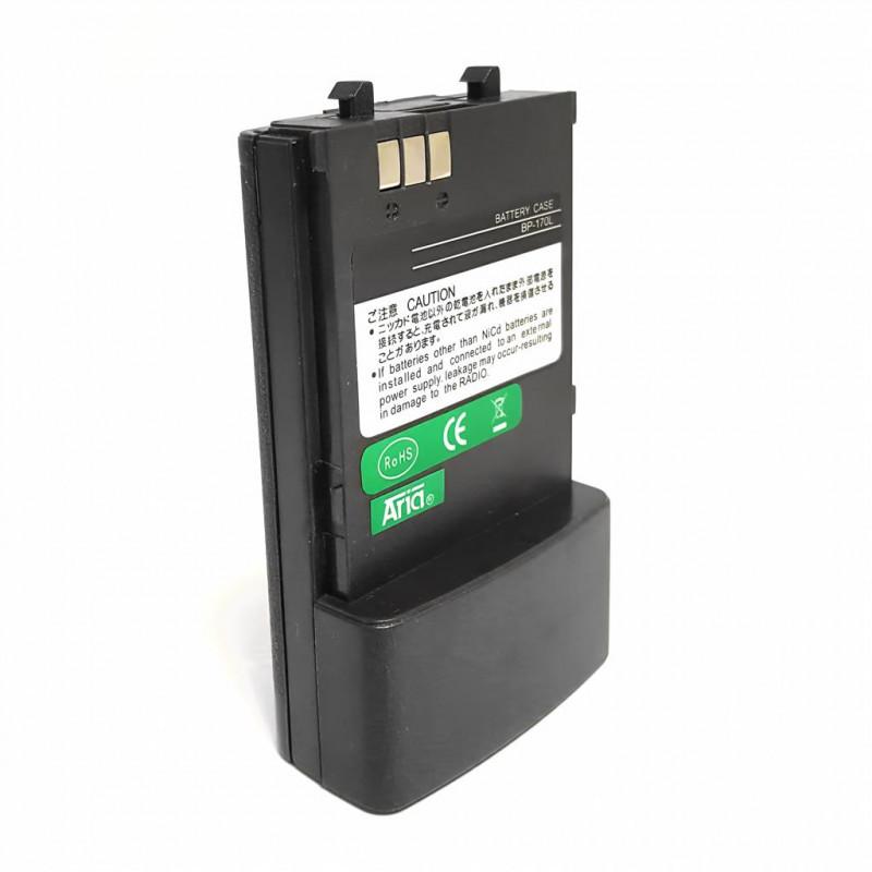 BP-170-L - Portapilas compatible con ICOM IC-W32A/E, IC-T7H, IC-T22A/E, IC-42A/E