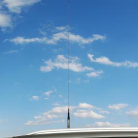 HY-LINE - Antena móvil para CB bobina cromada abatible, 5/8.
