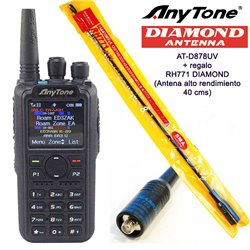 ANYTONE AT-D878UV DMR + ANTENA DE ALTA GANANCIA DE REGALO