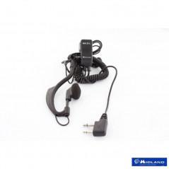 MA-21Li Micro Auricular MIDLAND con solapa. Para MIDLAND G7/G8/G9...