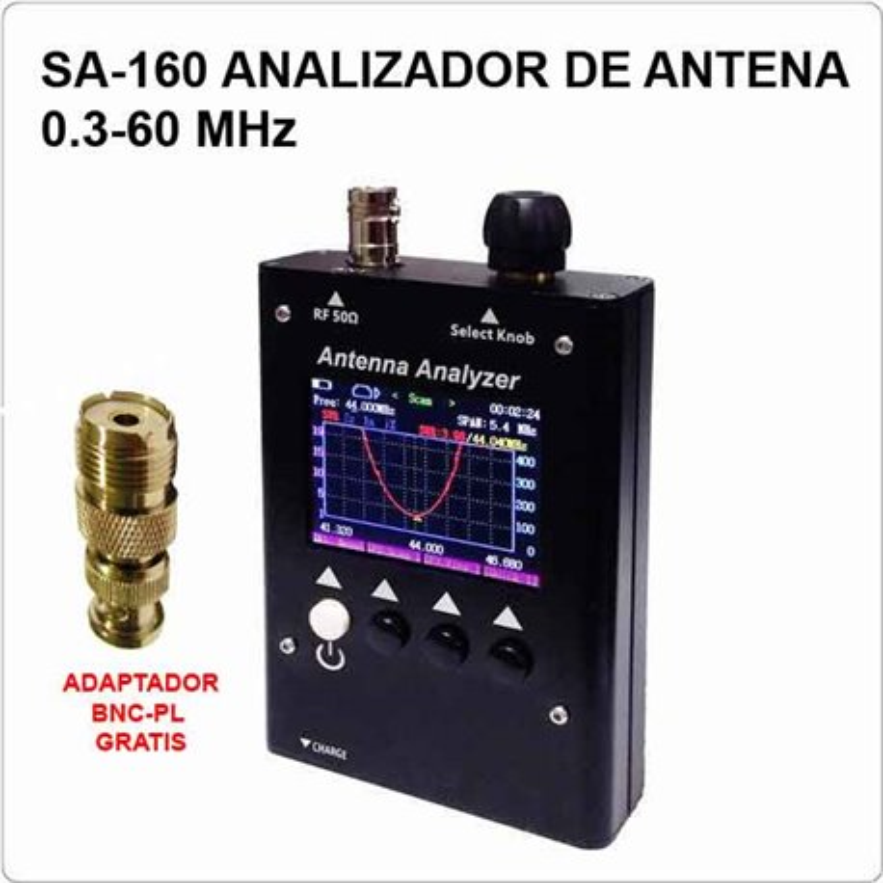 SURECOM SA-160 ANALIZADOR DIGITAL DE ANTENA 0.5-60MHZ COLOR