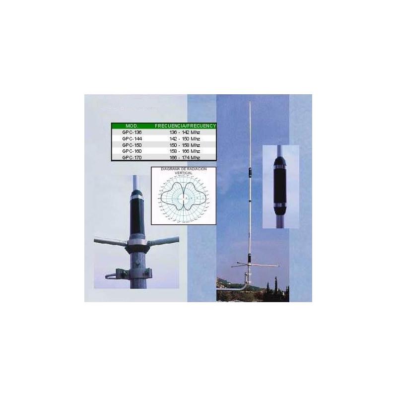 GPC-170 - Antena colineal 2 x 5/8 VHF (166 - 174 MHz.).