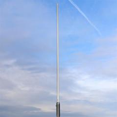 GCF-688 - Antena de base VHF, vertical, fibra de vidrio, para 66 ~ 88 MHz.