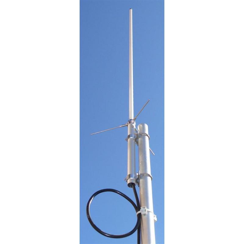 DX-BC-200-H - Antena vertical monobanda de fibra, ajustable de UHF, 430-490 MHz